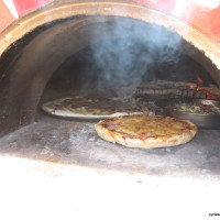 Cooking pizzas